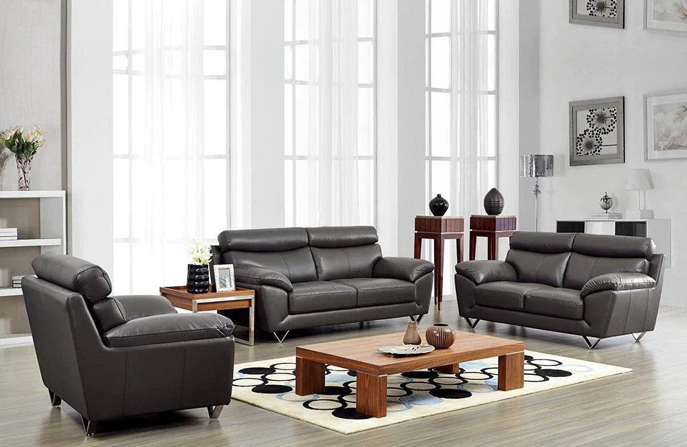 set of leather sofas wooden sofa furniture designs adrianna modern buy 3639 in a