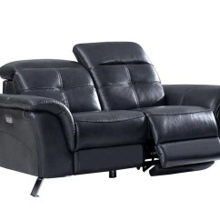 Reclining Leather Sofas Sofa Table 12 Inches Deep Delilah Modern Recliner Set Buy 4799 In A