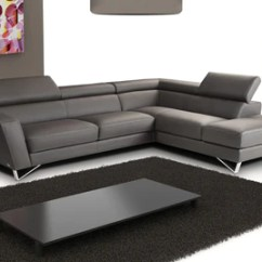 Leather Sectional Sofas Small Wicker Sofa Spectra Dark Gray Right Facing Buy 3599 In A Modern Furniture Store Fairfield Nj Casa Eleganza Mattress