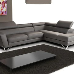 Dark Gray Leather Living Room Furniture Framed Art Buy In A Modern Store Fairfield Spectra Sectional Sofa