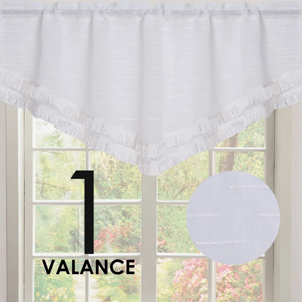 kitchen curtians aid gas grill curtains marburn roma double layer rod pocket ascot valance with tassel trim
