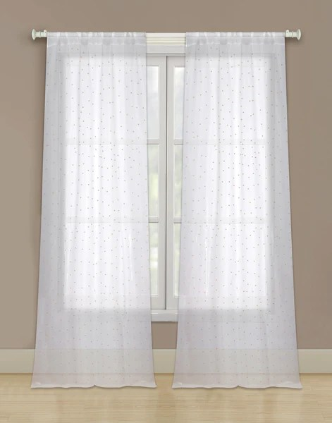 Marquee Sheer Rod Pocket Panel wBeads  Marburn Curtains