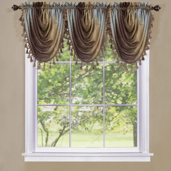 Ombre Rod Pocket Waterfall Valance  Marburn Curtains