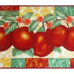 Apple Kitchen Rugs Log Cabin Cabinets Apples Rug 18 X 30 Marburn Curtains