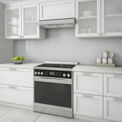 Hood Kitchen Lights Under Cabinets Ancona Slim El530 30 In Stainless Steel Cabinet Range