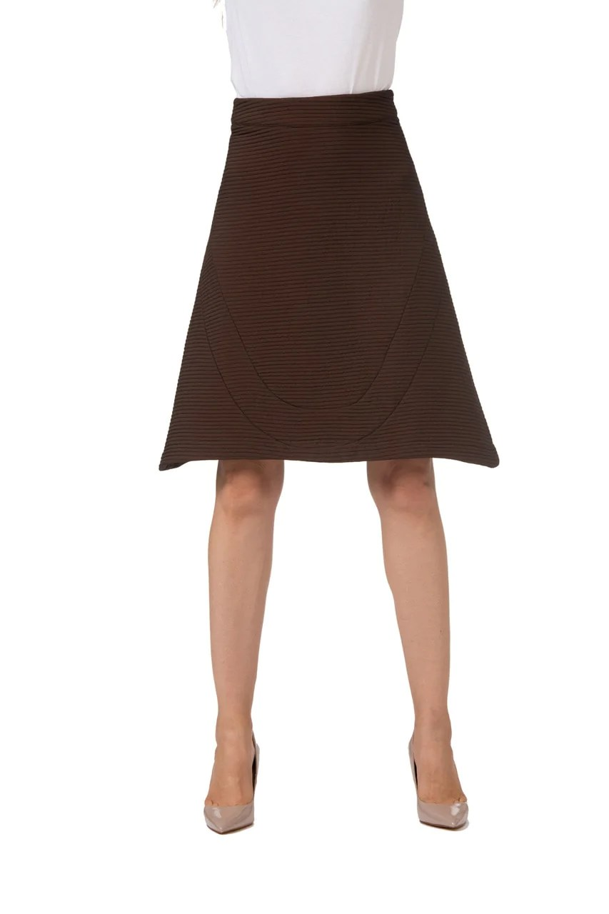 Chocolate Brown -line Skirt Fromay Besancon