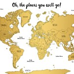 Watercolor World Scratch Off Map Perfect Gift For Any Travel Enthusiast Travelbug Maps