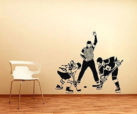 ice hockey players wall decal ondecal
