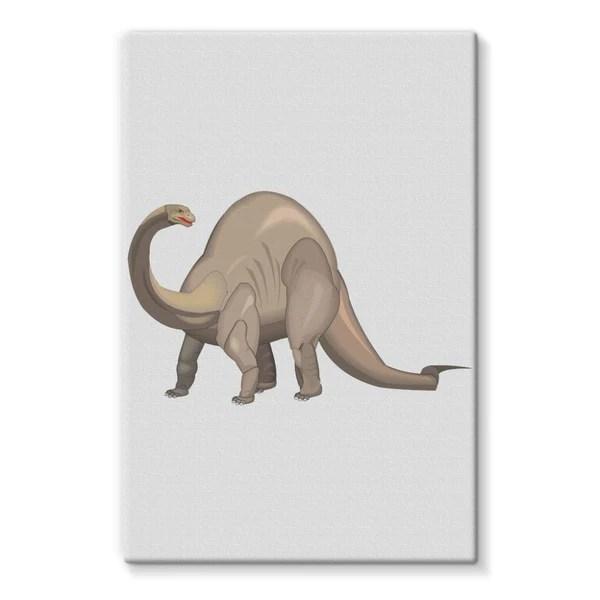 grey brontosaurio dinosaur stretched