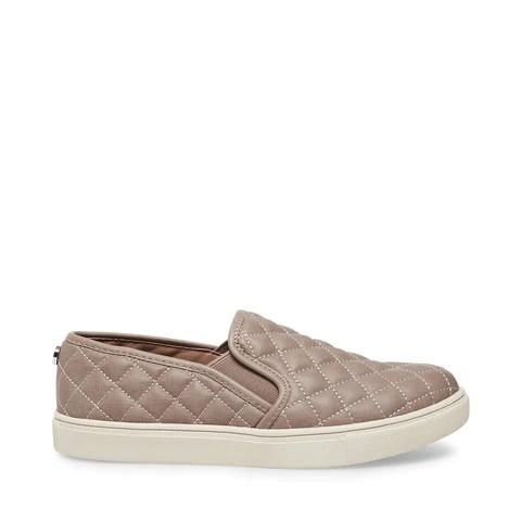 Tan Suede Slip On Sneakers