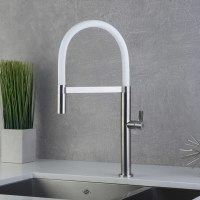 DAX Single Handle Pull Out Kitchen Faucet, Stainless Steel ...