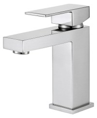 DAX Single Handle Bathroom Faucet, Brass Body, Chrome ...