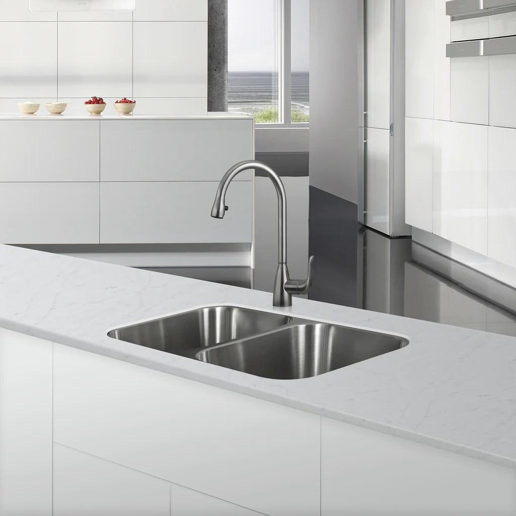 dax 50 50 double bowl undermount kitchen sink 18 gauge stainless stee