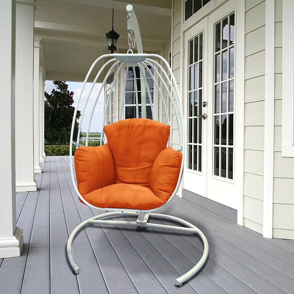 Hanging Chair Outdoor Egg Shaped Hanging Swing Chair Outdoor Patio Porch Swing Hammock Swing Chair