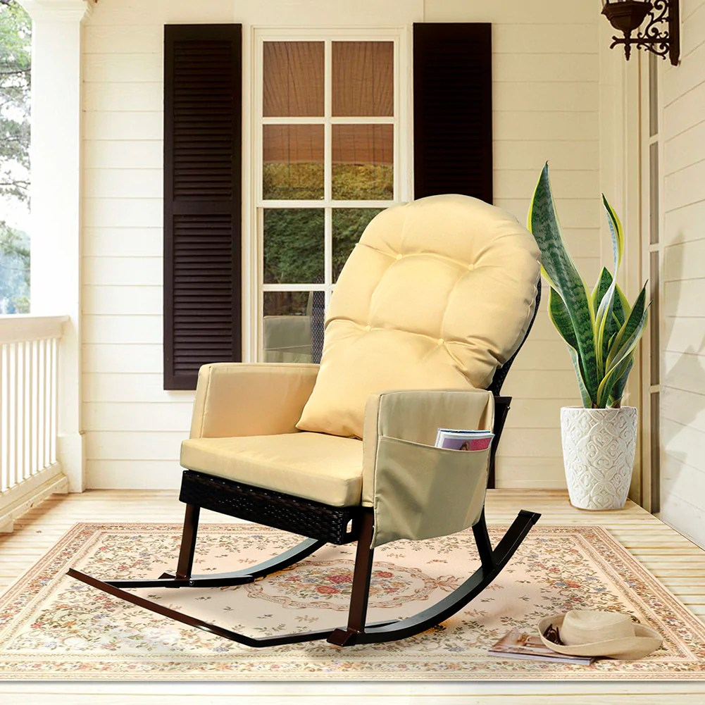 Wicker Rocking Chair Rocking Chair Wicker Rocking Chair Outdoor Recliner Chair Babylon Chair