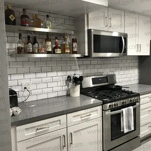 metal kitchen shelves rugs for the stainless steel space ponoma floating countertops furniture mike finkelstein photos of