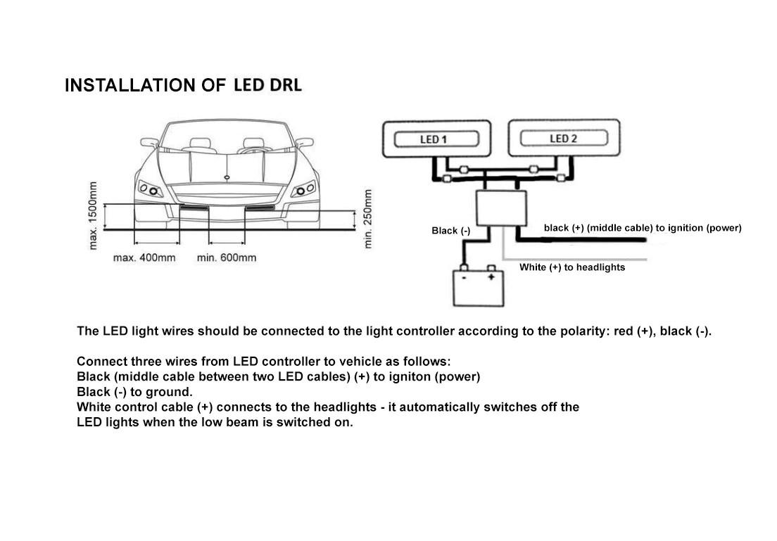 2x white 12 led flexible car daytime running light drl fog day audi daytime running lights audi circuit diagrams [ 1104 x 769 Pixel ]