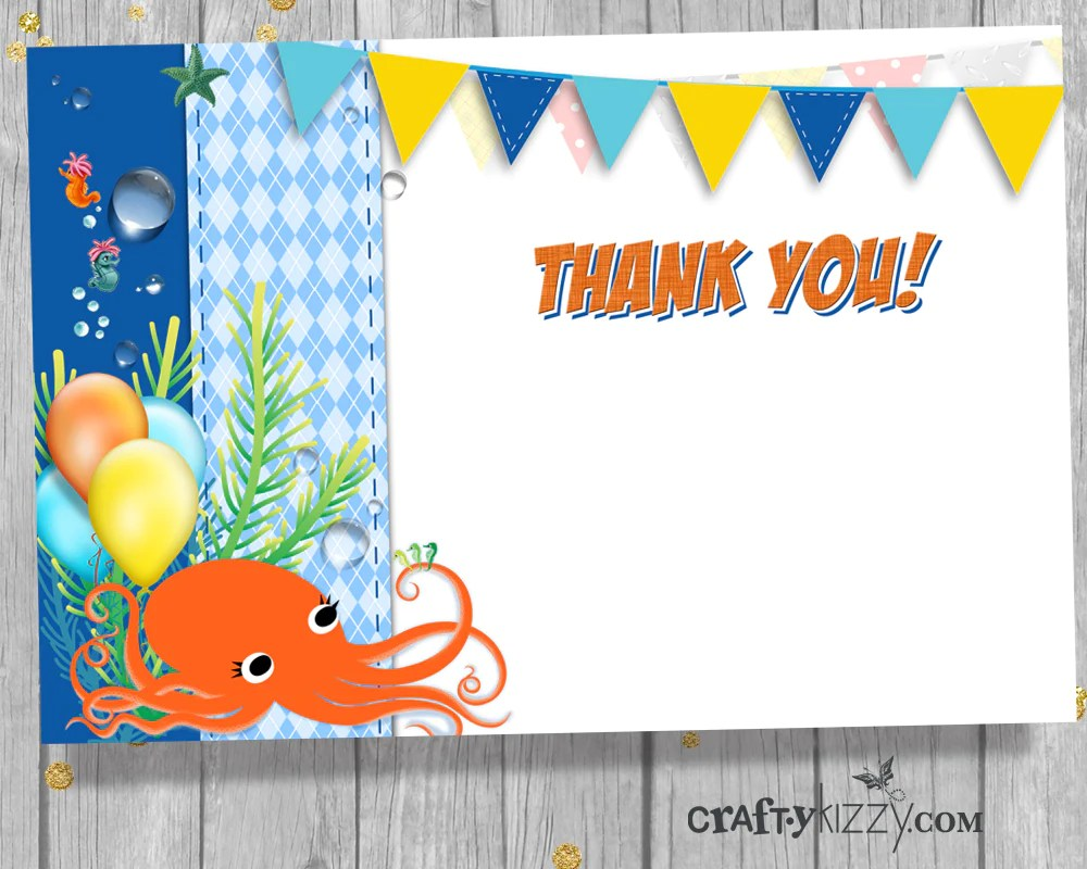 under the sea first birthday invitation sea animal 1st second birthday invitation ocean invite craftykizzy