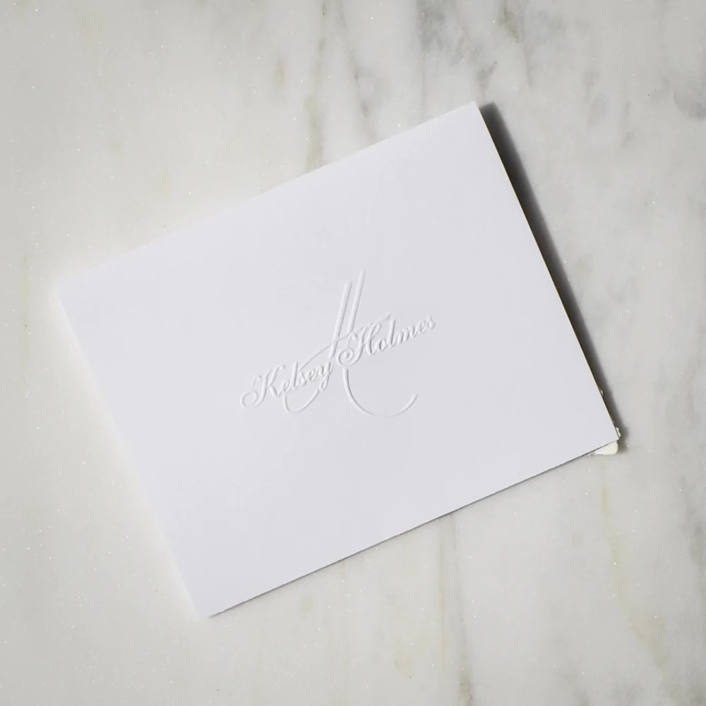 classic personalized embossed stationery
