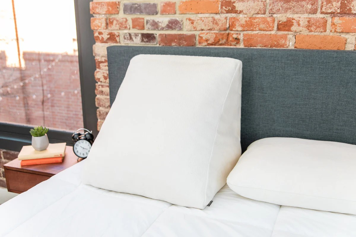 bed wedge pillow removable organic cotton cover hmbl home