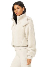 Foxy Sherpa Jacket - Bone--1