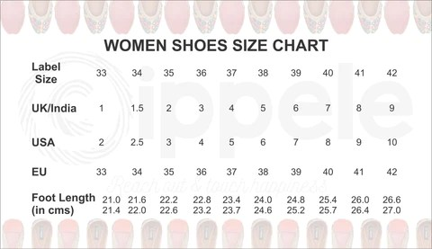 Cippele uses the european footwear sizing standards for showcased please refer to below size chart more information also  rh