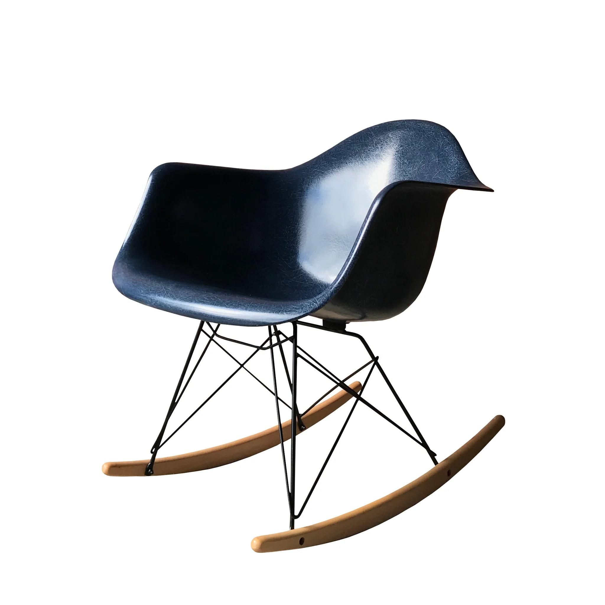navy rocking chair wayfair chaise lounge chairs eames rar blue  huis van marcel