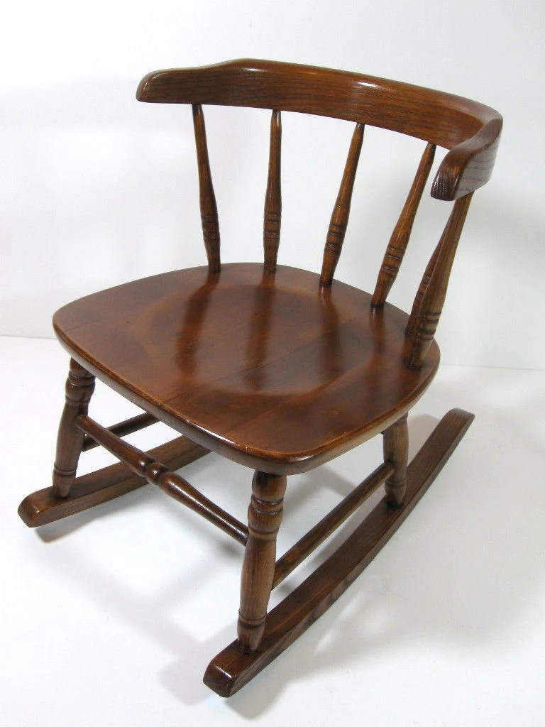 Child Wooden Rocking Chair Antique Childs Wood Rocking Chair Mission Arts Craft
