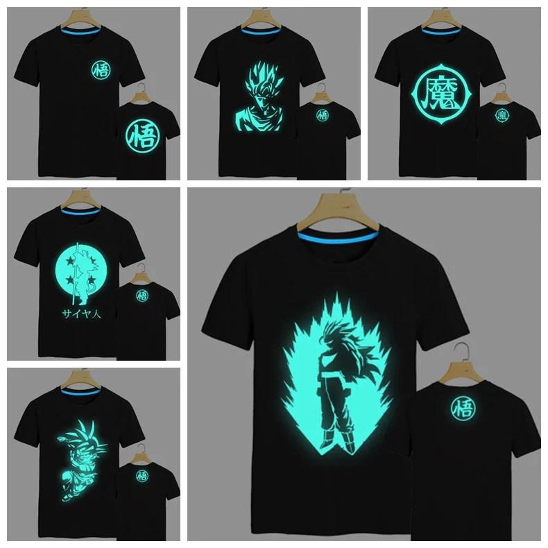 Dragonball Z Glow In The Dark Mens TShirt  Otaku Forest