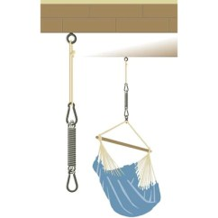 Hanging Chair Christchurch Crate And Barrel A Half Hammock Spring Kit Shop How To Hang From Beam
