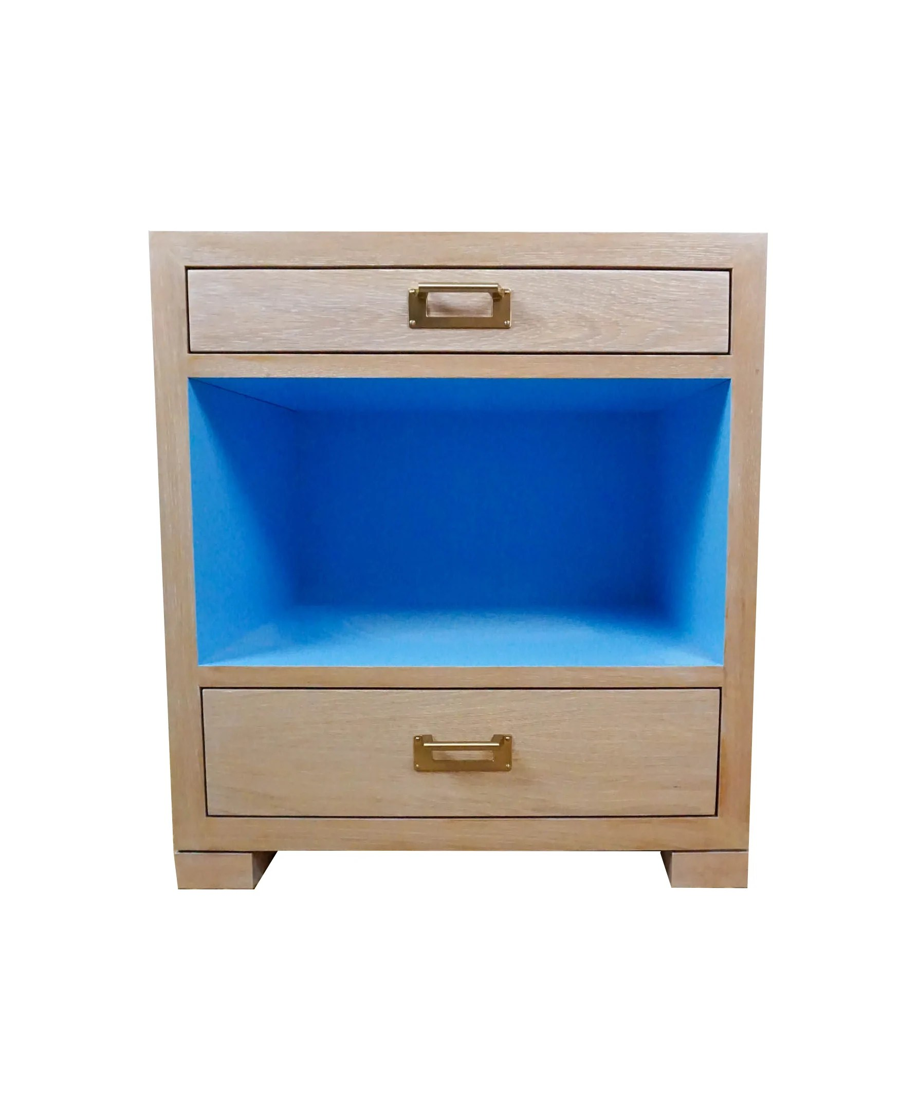 Blue Paint Deck Nightstand