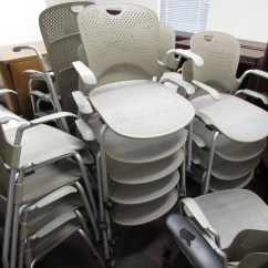 Herman Miller Stacking Chairs Swivel Chair Gas Lift Caper With Wheels Recycled Office