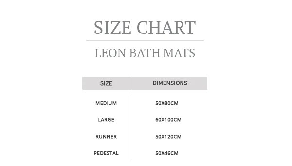 leon bath mat size