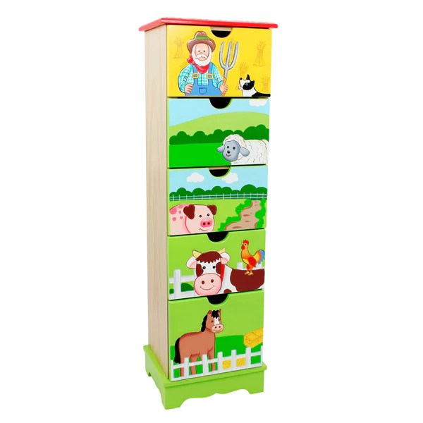 Fantasy Fields By Teamson Happy Farm 5 Drawer Cabinet