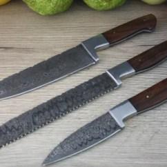Damascus Kitchen Knives Bundles Steel Carbon Chef Knife Jegger Com Au 3 Piece Set