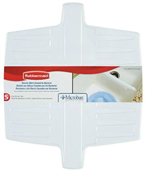 rubbermaid 1297 ar wht microban flexible sink divider mat white
