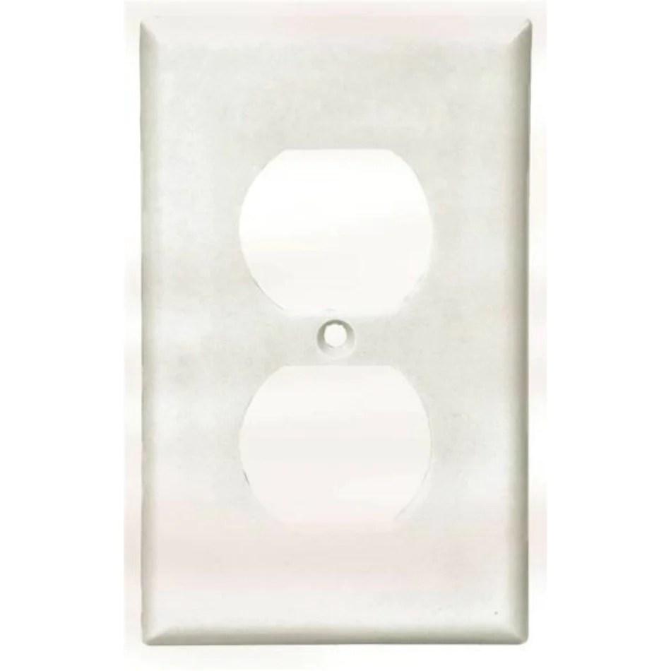 medium resolution of cooper wiring 2132w duplex receptacle wallplates thermoset white 1 gang