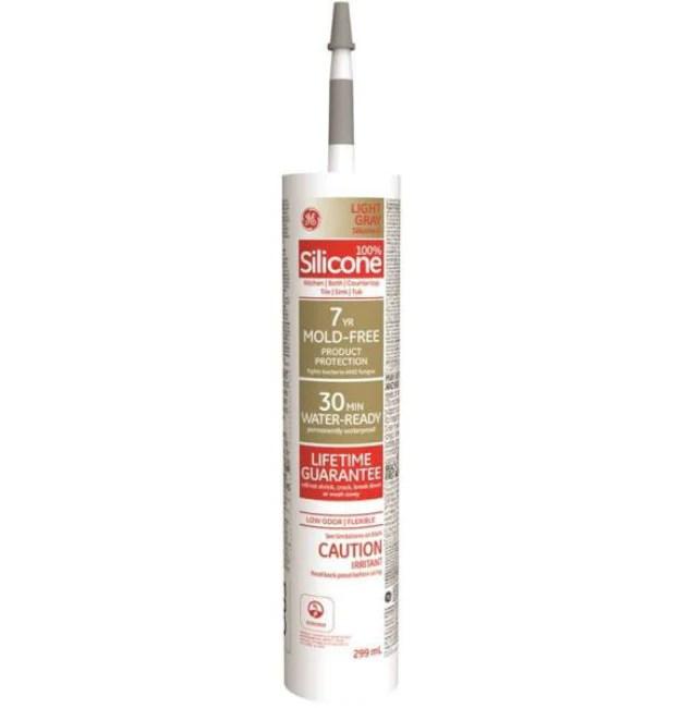 ge se2188 silicone ii kitchen bath caulk light gray 299 ml