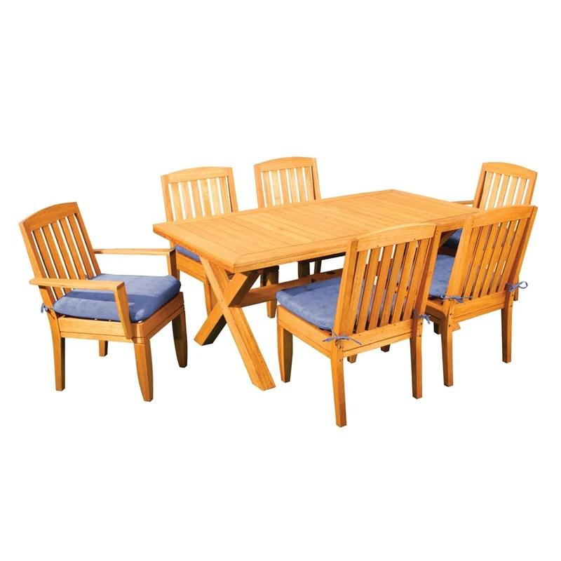 margaritaville 642601no 103og bahamas solid wood dining set w natural