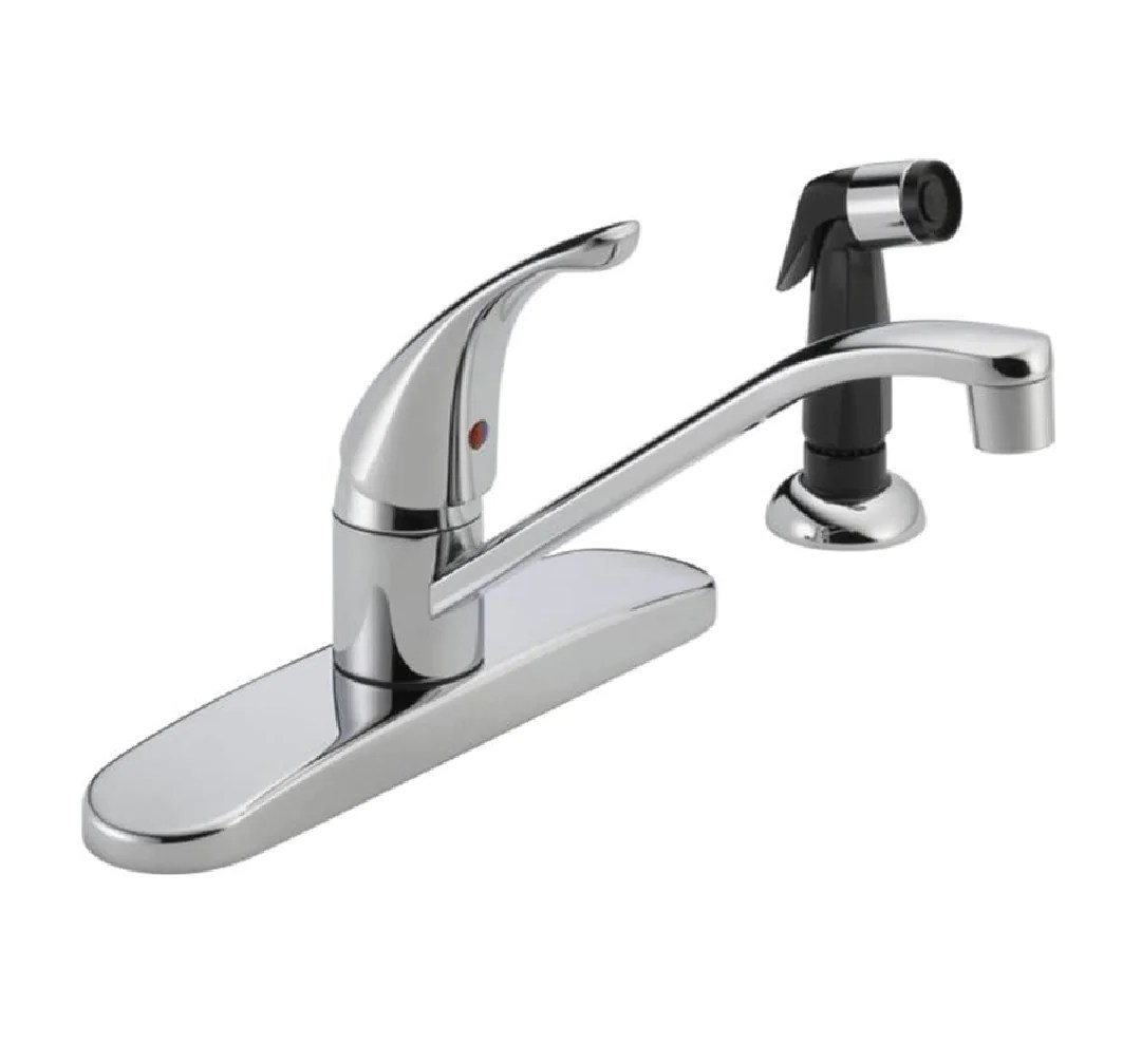 delta p115lf kitchen faucet with side spray chrome