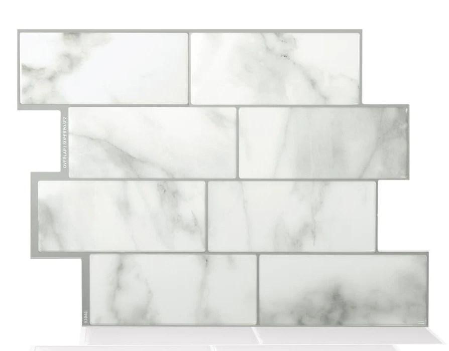 smart tiles sm1080 6 peel and stick mosaic decorative wall tile metro