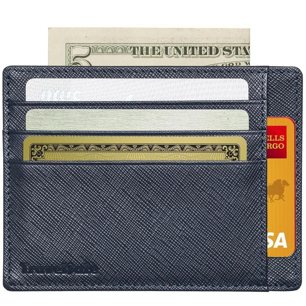 Genuine Leather Rfid Credit Card Holder Slim