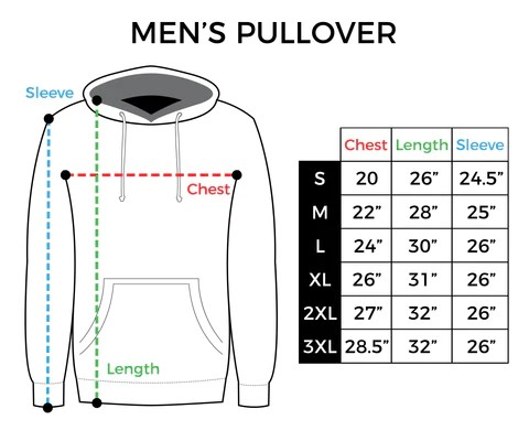 Size chart men   pullover hoodie also inkaddict rh