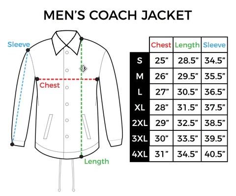 Size chart mens coach jacket also  inkaddict rh