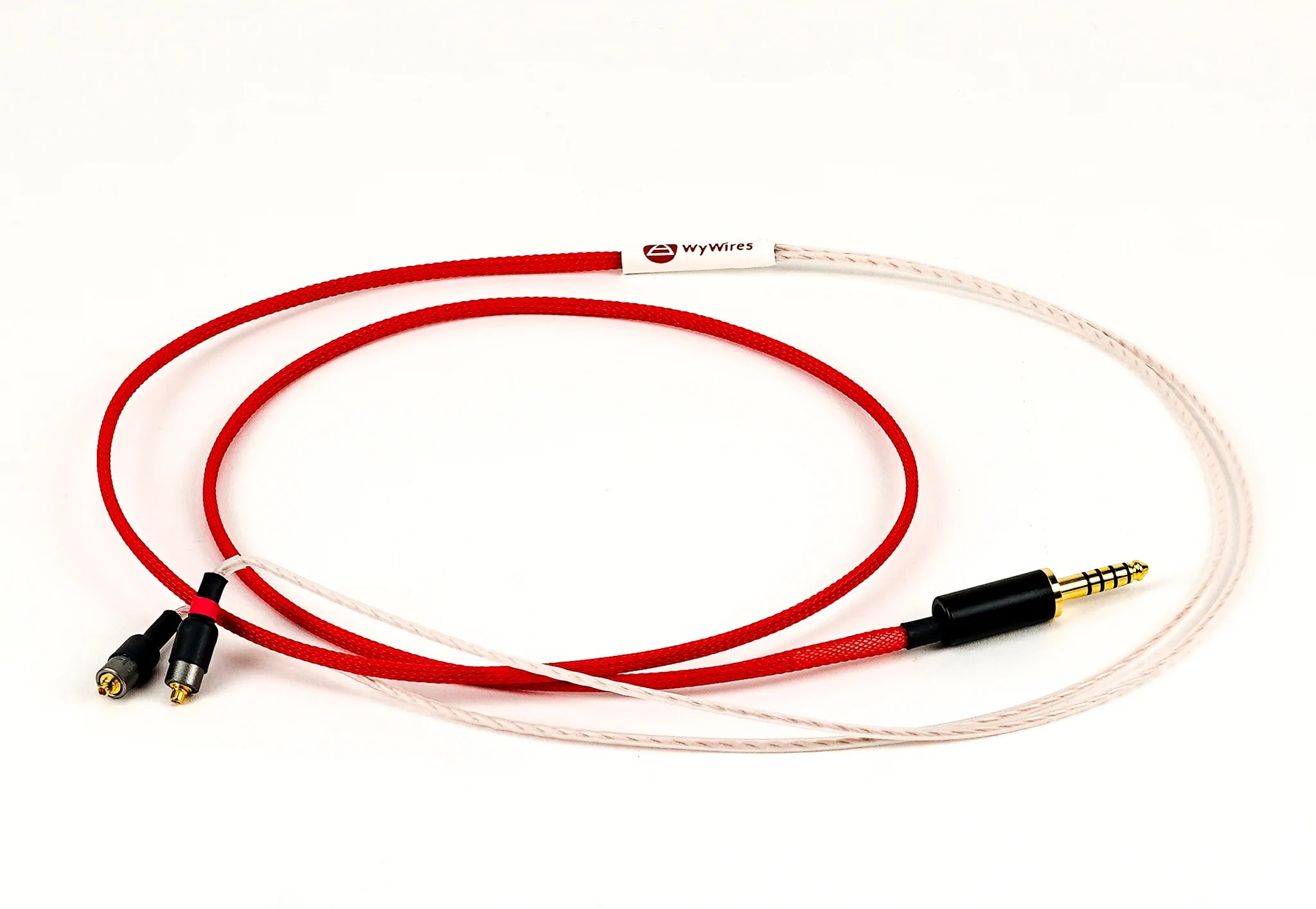 hight resolution of in ear monitor cables red
