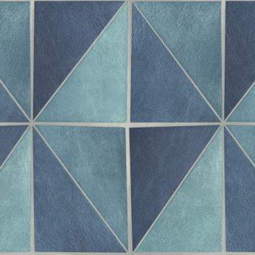 gradient geometric tiles wallpaper blue and grey r4766