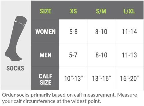 Pro compression socks size chart also getting the right fit  procompression rh