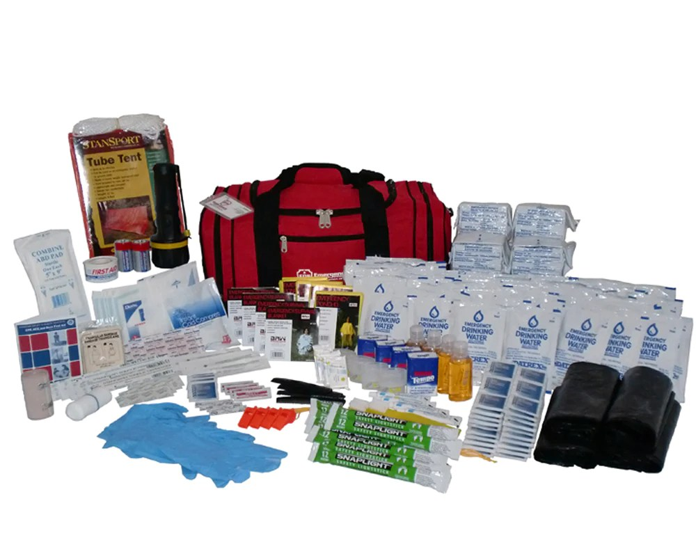 72 Hour Survival Kit  4 Person  3 Day Emergency Disaster
