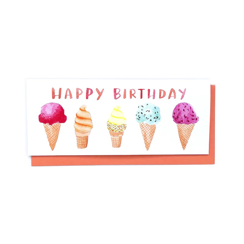 ice cream cones happy