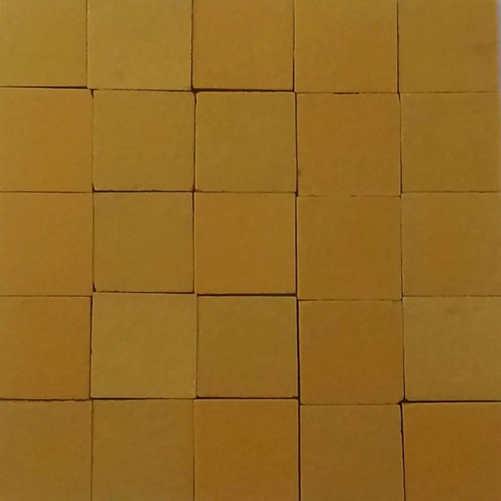 ceramic mosaic tiles 17x17 mm matt mustard